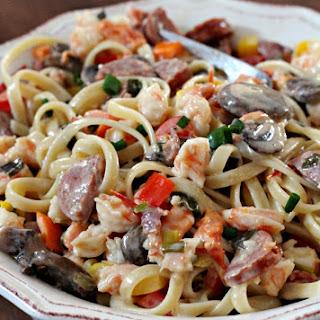 Shrimp Mardi Gras Pasta.