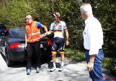 Pascal Ackermann slaakt zucht van opluchting na val in de Ronde van de Alpen