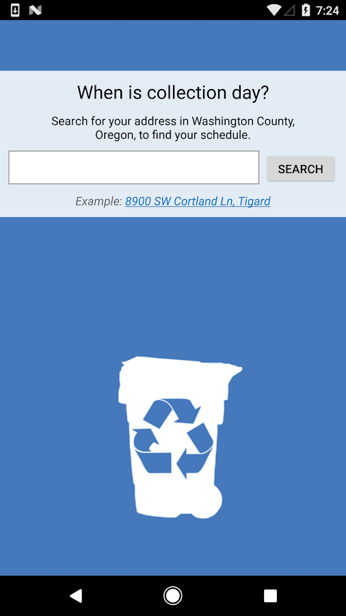 Garbage and Recycling Day- screenshot