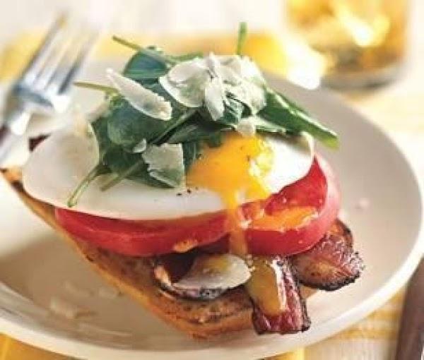 Carols Opened Face Egg Sandwich Recipe