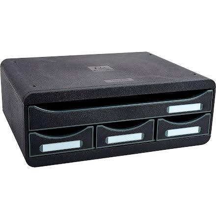 Box Exacompta 4lådor svart