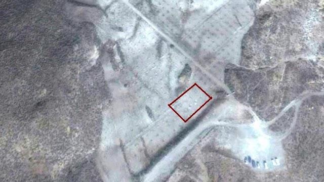 magen del satélite de la zona donde irá el hotel, con la parcela marcada en rojo.