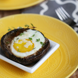 Grilled Eggs in Portobello Mushrooms.