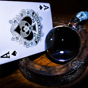 Aces by Kyle Blakeburn - Artistic Objects Antiques ( playing cards, ace, crystal, wood, spades )