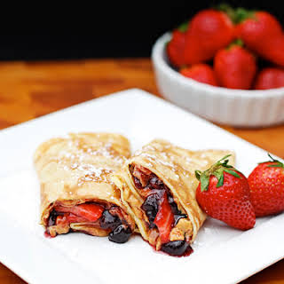Peanut Butter and Jam Crepes.