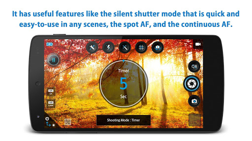 HD Camera Pro - silent shutter app for Android screenshot