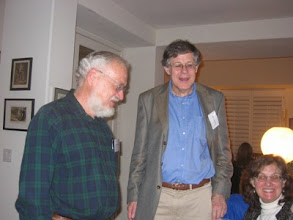 Photo: Professors Brian Skyrms, Allan Gibbard and Beth Genne