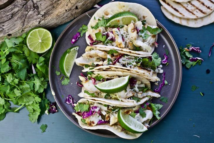 Grilled Fish Tacos with JalapeñO Hummus Recipe