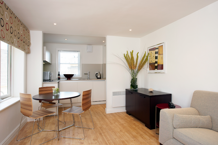 living space at St James Parade Apartments