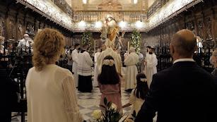 Momento de la bendición de San José.