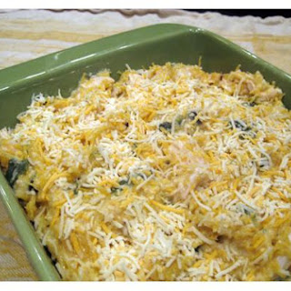 Spaghetti Squash Casserole With Chicken and Chiles