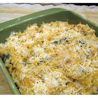 Spaghetti Squash Casserole With Chicken and Chiles.