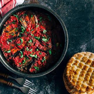 Moroccan Zaalouk Recipe - Eggplant and Tomato Cooked Salad.