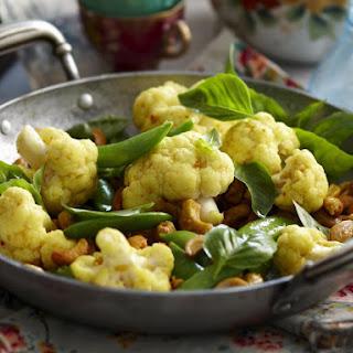 Curried Cauliflower with Cashews.