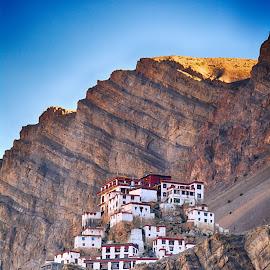 Ki Monastery by Rajat Sethi - Buildings & Architecture Places of Worship ( himalayas india monastery spiti )
