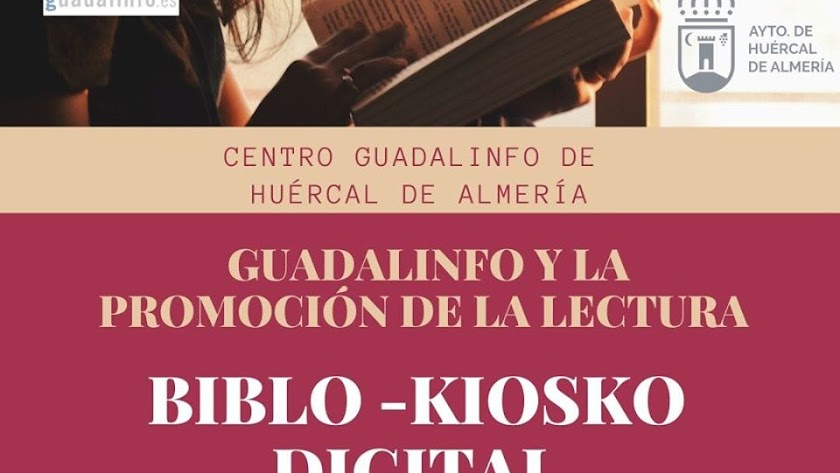 Cartel de Biblio-Kiosco digital.