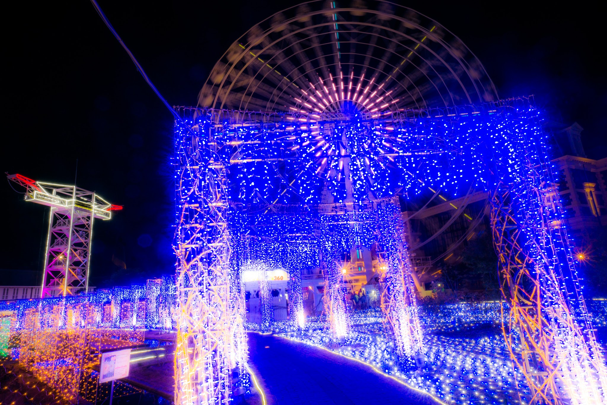 ハウステンボス イルミネーション 光の王国 アートガーデン3