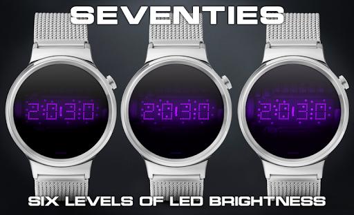Download LED watch face   Vintage   Seventies Amethyst MOD APK 2