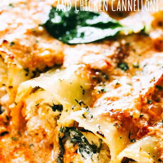 Creamy Ricotta Spinach and Chicken Cannelloni Recipe