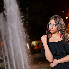 birthday : ) by Marko Stanišić - People Portraits of Women ( birthday, portraits of women, fontana krusevac, 18 birthday, foto marko, women, portrait, d800e, nikon d800e, night photography, krusevac, foto zrak, nikon, portraits )