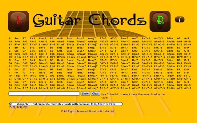 Guitar Chords Chrome Web Store
