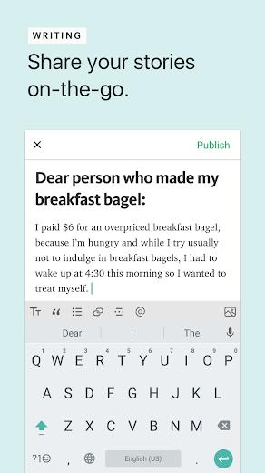 Screenshot 2 for Medium's Android app'
