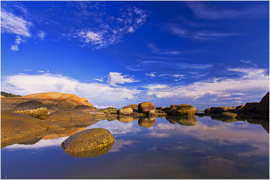 A mirror to the sky by Andre Adhie - Landscapes Waterscapes