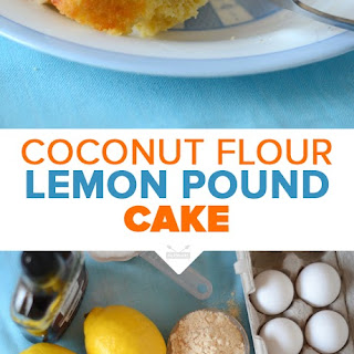 Lemon Pound Cake with Coconut Butter Glaze