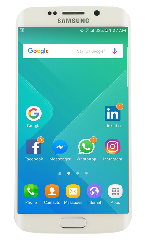 Galaxy S8 launcher- screenshot