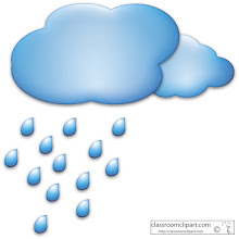 Photo: Clouds with Raindrops clipart
