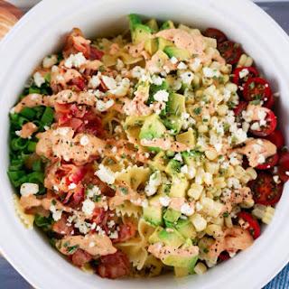 Easy Bacon Avocado Summer Pasta Salad Recipe