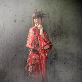 the smoke maker by Rajha Tahir - People Portraits of Women