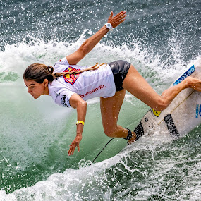 Oceanside III by Mark Ritter - Sports & Fitness Surfing ( surfer, macro, woman, supergirlpro, closeup, surfing, paul mitchell, oceanside, california, competition, wave )