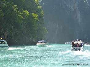 Photo: Traffic jam! Phi Phi Islands style.