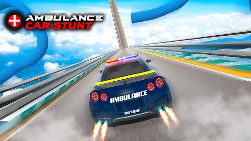 Ambulance Car Stunts: Mega Ramp Stunt Car Games 2.1 screenshots 3