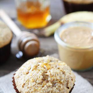 Peanut Butter, Banana, and Honey Muffins.