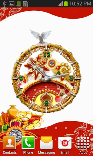 Rakhi Theme Clock