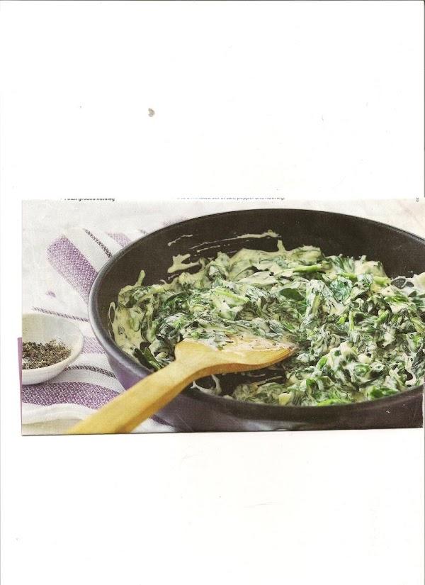 Garlicky Creamed Spinach Recipe