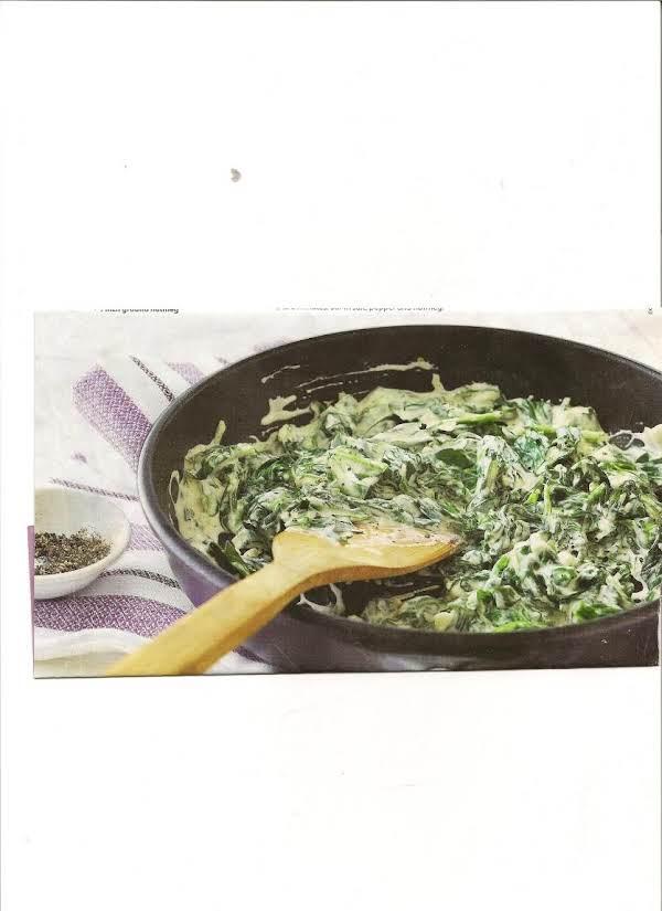 Garlicky Creamed Spinach