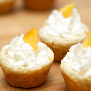 Peaches & Cream Cookie Cups #SipYourSummer