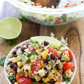 Grilled Corn and Black Bean Salad with Rice.