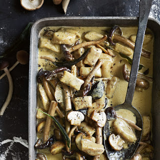 Porcini Gnocchi with Creamy Mushroom Sauce Recipe