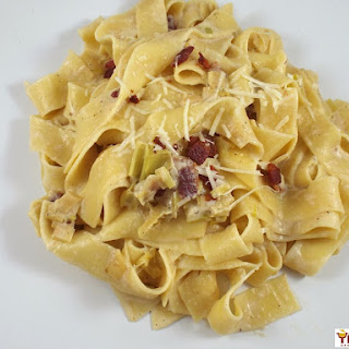 Leek and Bacon Pappardelle Recipe