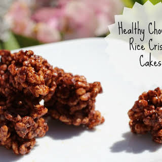Healthy Chocolate Rice Crispy Cakes.