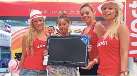 Promoción de Worten en Roquetas en los primeros días de apertura en 2009.