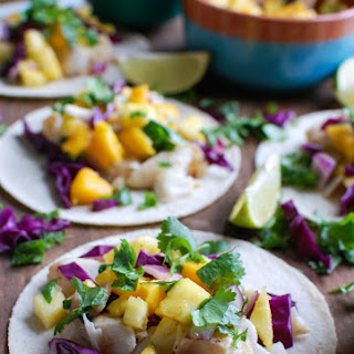 Grilled Fish Tacos with Tropical Salsa.