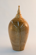 "Photo: Mike Twenty - Hollow Lidded Vessel - 9.75"" x 4.75"" [Ambrosia Maple]"