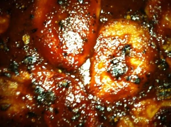 This Is What The Boneless Pork Chops Look Like After Coming Out Of The Oven The Last Time!  They Were Very Good Too!