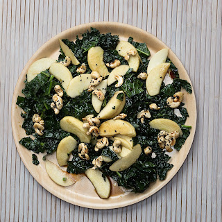 Apple and Kale Salad with Black-Sesame–Maple Cashews