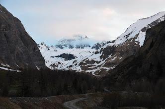 Photo: Poranny widok na szczyt Grossglocknera z parkingu przy Lucknerhaus